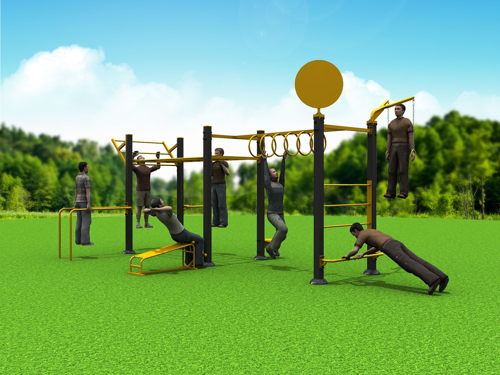Outdoor Fitness Equipment : Gozones outdoor fitness equipment
